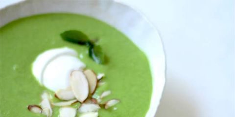 sweet pea basil soup