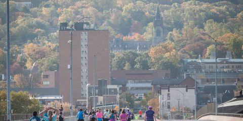 Tree, Pedestrian, Endurance sports, Crowd, Walking, Running, Exercise, Thoroughfare, Racing, Walkway,