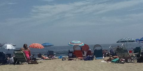 Coastal and oceanic landforms, Sand, Shore, Umbrella, Tourism, Beach, People on beach, Ocean, Vacation, Holiday,