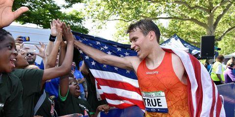 Ben True after winning 2015 Healthy Kidney 10K