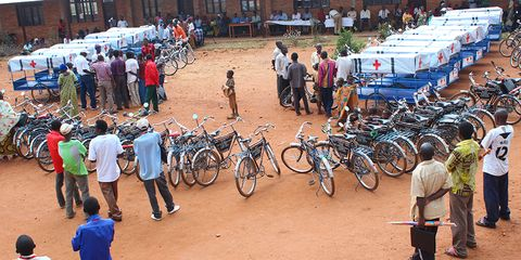 Bikes aren't just for fun anymore: now, they're saving lives as makeshift ambulances.
