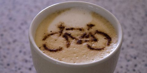 """Something along the lines of, """"Caramel macchiato now, uncomfortable ride later."""""""