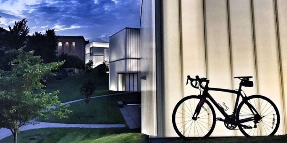 Kim Horgan's bike at the Nelson Atkins Museum in Kansas City