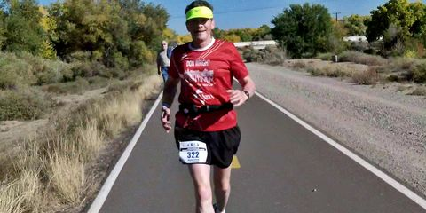 Road, Infrastructure, Recreation, Asphalt, Human leg, Road surface, Endurance sports, Cap, Outdoor recreation, Running,