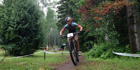 Emily Batty powers her way to second place at Canadian Mountain Bike National Championships.