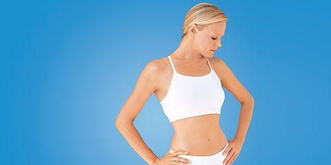 Skin, Human body, Shoulder, Elbow, Waist, Joint, Standing, Chest, Brassiere, Abdomen,