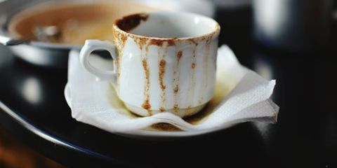 germy cup of coffee