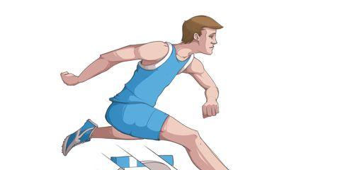 Finger, Human leg, Elbow, Joint, Standing, Knee, Wrist, Sock, Sleeveless shirt, Electric blue,