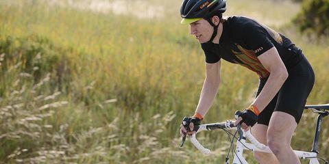 Man cycling wearing Giro's Chrono Pro kit