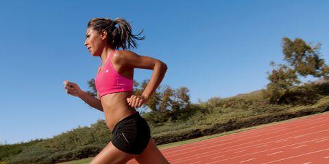 Track and field athletics, Race track, Human leg, Shoe, Running, Athletic shoe, Athlete, Knee, Shorts, Exercise,