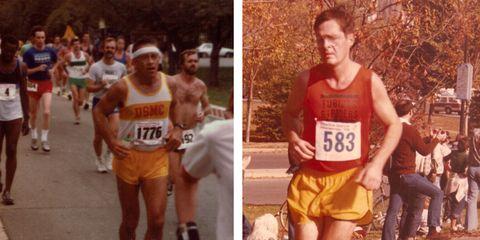 Footwear, Leg, People, Recreation, Human leg, Endurance sports, Sleeveless shirt, Running, Quadrathlon, Long-distance running,