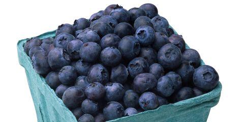 Produce, Ingredient, Food, Fruit, Natural foods, Basket, Storage basket, Teal, Turquoise, Local food,