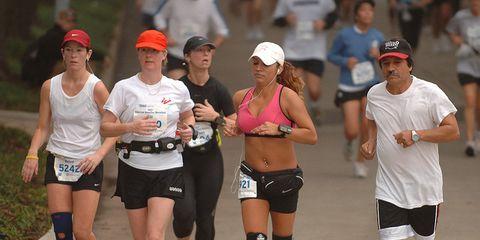 Footwear, Human leg, Sportswear, Recreation, Active shorts, Athletic shoe, Physical fitness, Shorts, Hat, Running,