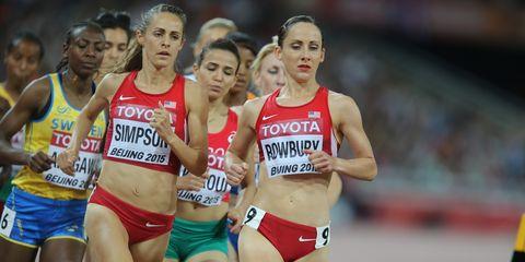Jenny Simpson and Shannon Rowbury