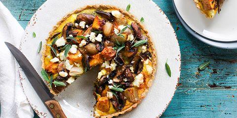 pumpkin mushroom tart