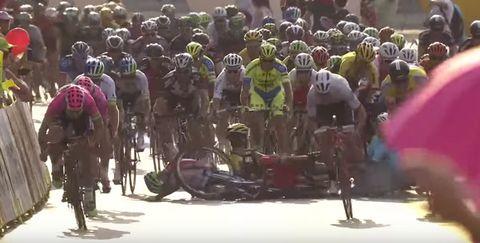 Tour of Poland Crash Takes Out Entire Field