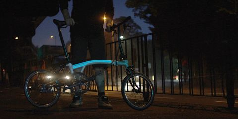 Brompton Bicycle's prototype bike with electroluminescent paint