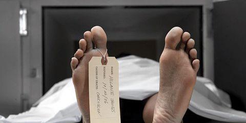 dead guy in morgue