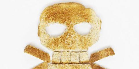 Yellow, Finger food, Tan, Beige, Breakfast, Baked goods, Fawn, Snack, Junk food, Bone,