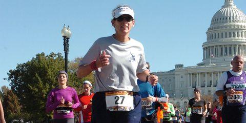 Footwear, Cap, Recreation, Dome, Road, Sportswear, Endurance sports, Running, Street, Hat,
