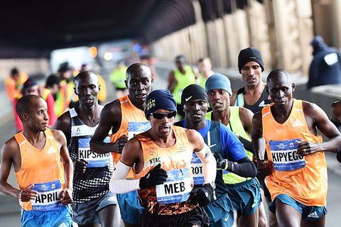 NYC Marathon 2014 men's lead pack
