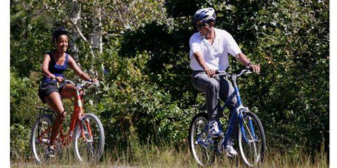 Barack Obama Rides a Bike
