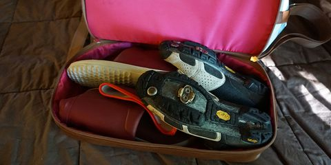 PoCampo's Weekender Bag plus a weekend's worth of cycling gear