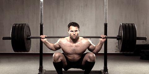 guy squatting