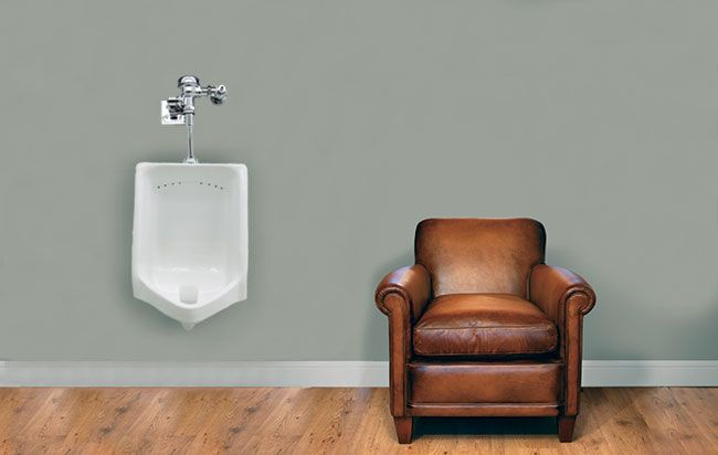 Urinal In Living Room