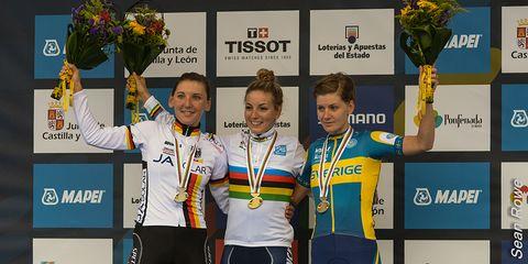 2014 UCI World Road Cycling Championships Women's Podium