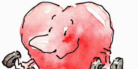 Red, Pink, Organ, Carmine, Art, Artwork, Graphics, Paint, Illustration, Painting,