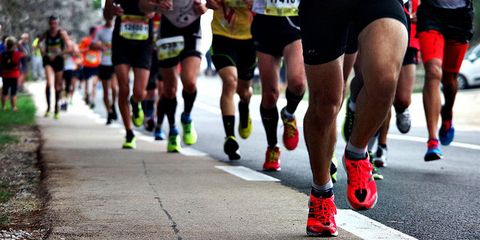 Clothing, Footwear, Road, Human leg, Infrastructure, Recreation, Endurance sports, Athletic shoe, Running, Outdoor recreation,