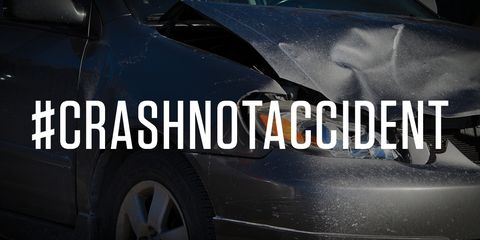 #crashnotaccident