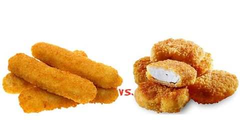 fish sticks and chicken nuggets