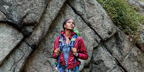 People in nature, Bag, Adventure, Luggage and bags, Bedrock, Jacket, Mountaineer, Outcrop, Backpacking, Backpack,