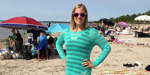 Eyewear, Glasses, Tourism, Sunglasses, Umbrella, Summer, Leisure, People on beach, Vacation, Fashion accessory,