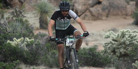 Kurt Refsnider on his way to a solo-category win during the 2015 24 Hours in the Old Pueblo