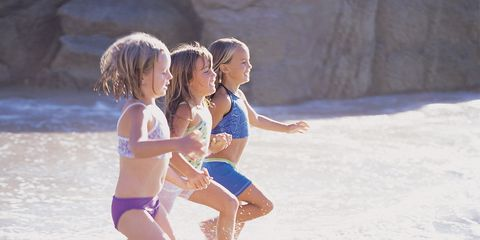 Fun, Human body, Leisure, Summer, Child, People on beach, People in nature, Interaction, Vacation, Barefoot,