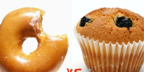 muffin and doughnut nutrition