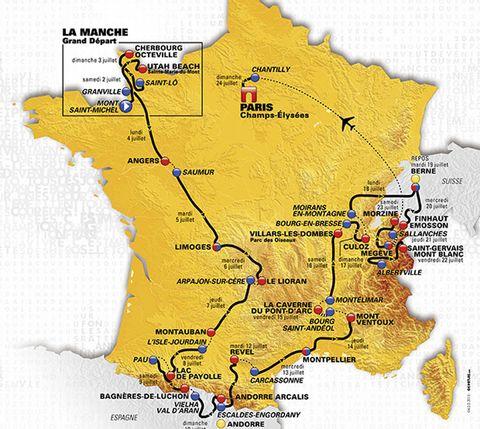 The 2016 Tour de France Route: Does It Favor Froome?