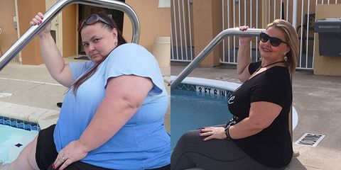 before and after fighting food addiction