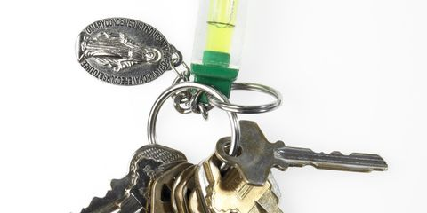 Metal, Key, Iron, Machine gun, Machine, Symbol, Keychain, Steel,