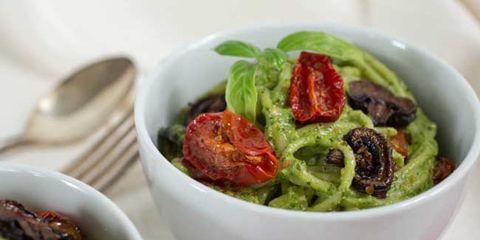 Roasted Veggie Pasta with Parsley & Pistachio Pesto