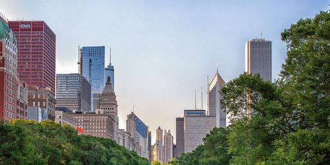 Tower block, Daytime, Metropolitan area, City, Urban area, Metropolis, Tower, Tree, Cityscape, Skyscraper,