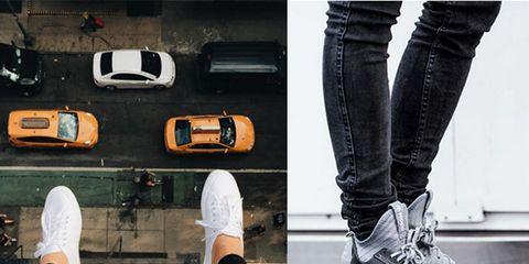 Footwear, Shoe, Denim, Textile, Jeans, White, Style, Fashion, Tan, Black,