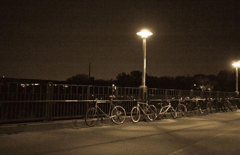 Spooky night biking
