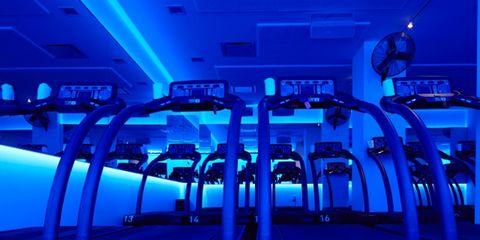 Blue, Sky, Technology, Room, Electric blue, Sport venue,