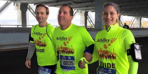 Smile, Sleeve, Sportswear, Community, Running, Cap, Active shorts, Long-distance running, Team, Athlete,