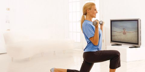 Workout you can do while watching TV to stay slim
