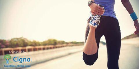 Joint, Human leg, Wrist, Asphalt, Knee, Bicycle clothing, Watch, Tights, Tar, Active pants,